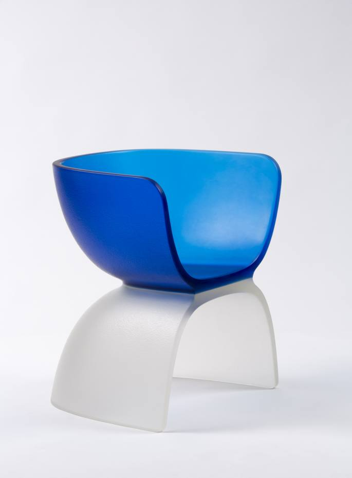 Marc Newson cast glass chair, 2017, price on request