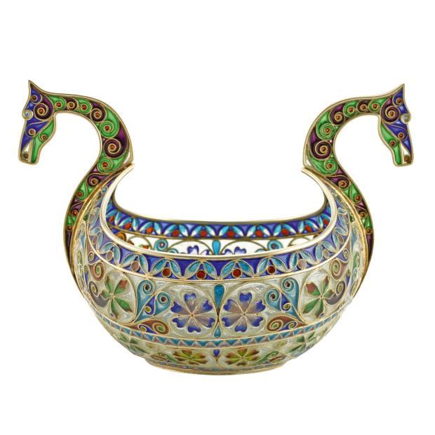 Marius Hammer c1900 plique-à-jour enamel bowl, $5,500 from John Atzbach
