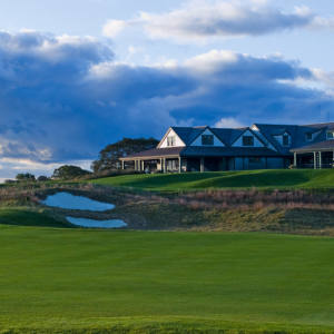 The 18th hole at Nantucket Golf Club finishes the course with a punch.