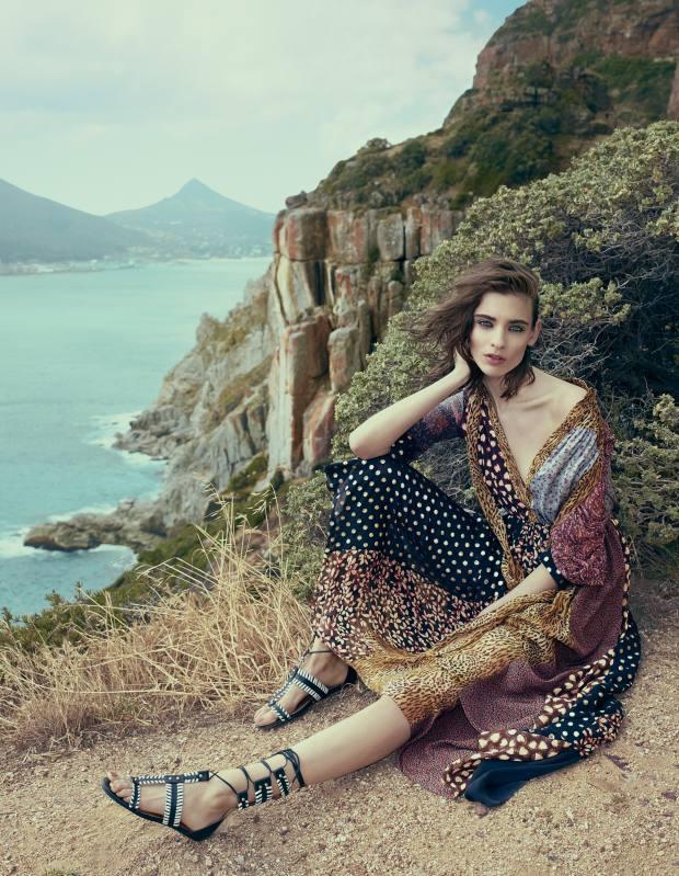 Saint Laurent by Hedi Slimane silk dress, £2,920. Aquazzura calfskin sandals, £440