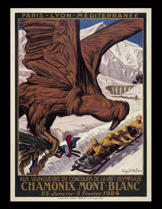 The 1924 Winter Olympics design.