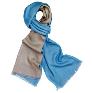 Loro Piana Duo scarf in cashmere/silk, £800. Also in red/brown