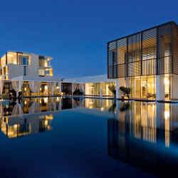 The rooms, suites and villas at Oberoi BeachResort, Al Zorah, were designed by Piero Lissoni