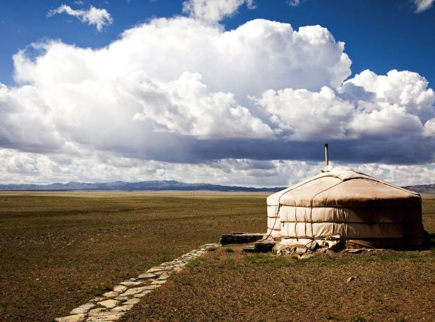 Three Camel Lodge, in the Gobi, Mongolia.