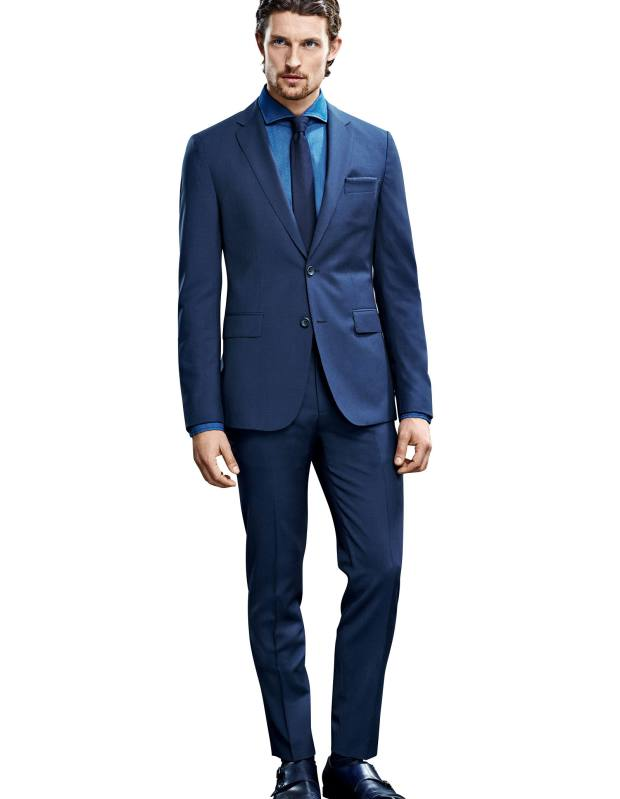 Boss wool-mix suit, £650