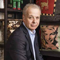 Martin Waller at Andrew Martin showroom