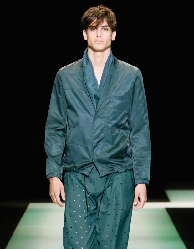 Emporio Armani technical cupro jacket, £580