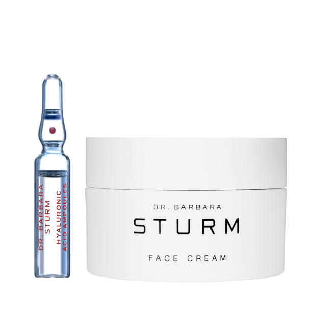 Dr Barbara Sturm Hyaluronic Acid Ampoules, £132 for seven x 2ml ampoules. Face Cream, £132 for 50ml