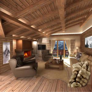The penthouse suite at Hôtel de Rougemont, Gstaad