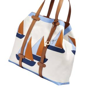 Loro Piana My Boat bag in water-repellent cotton canvas and calfskin, £960
