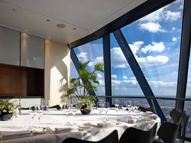 Four themed wine dinners will be held at Searcys at The Gherkin over the year