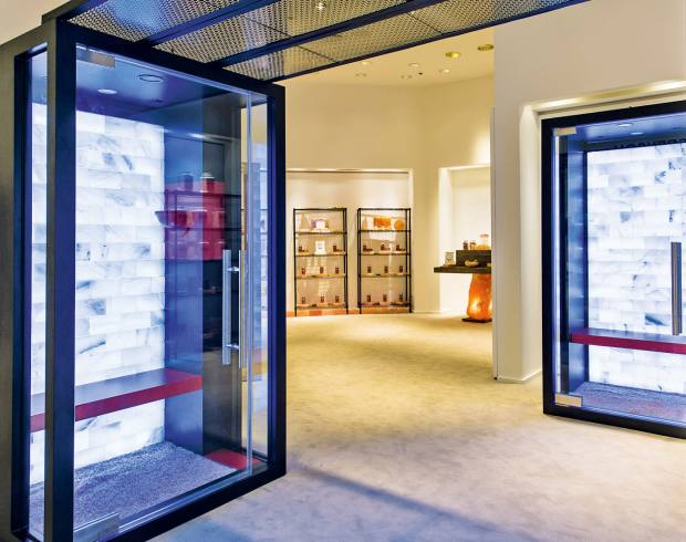 The Breathe Salt Rooms feature in Saks Fifth Avenue's six-month fitness and beauty pop-up, The Wellery, which runs until the end of October