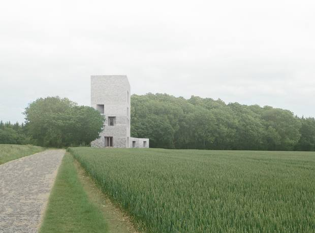Sergison Bates Architects tower house in Hampshire