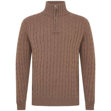 William & Son two-ply cashmere cable-knit jumper with funnelneck, £595