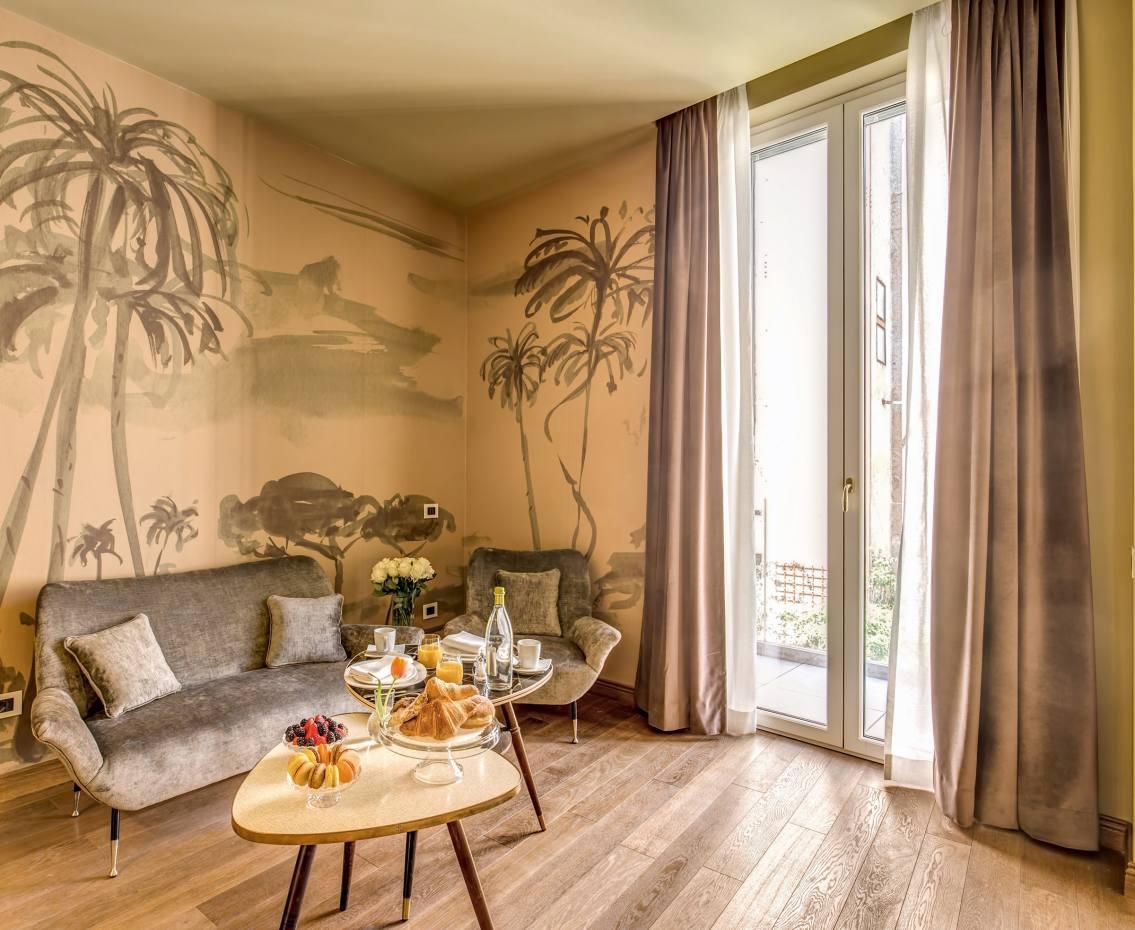 Hotel De' Ricci in Rome was styled bythe creators of über-chic concept store Chez Dédé