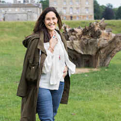 Monica Vinader in the grounds of Houghton Hall