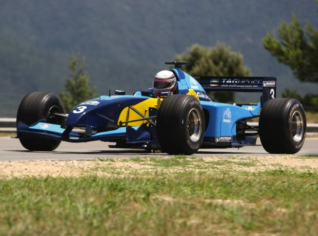 Simon in action in his F1 car.