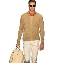 Lightweight sandstone suede jacket, £525