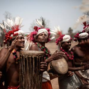 Bharripara tribe performing a Deer Horn dance