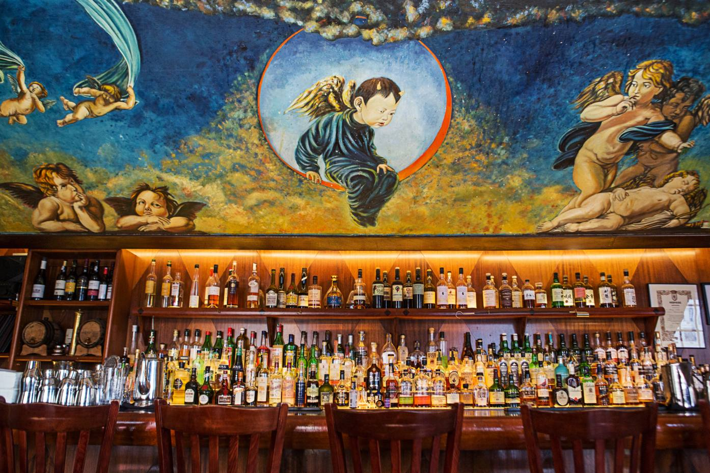 Geared towards Asian ingredients, Angel's Share's beatific bar is well-stocked with premium whisky, rice vodka and mirin