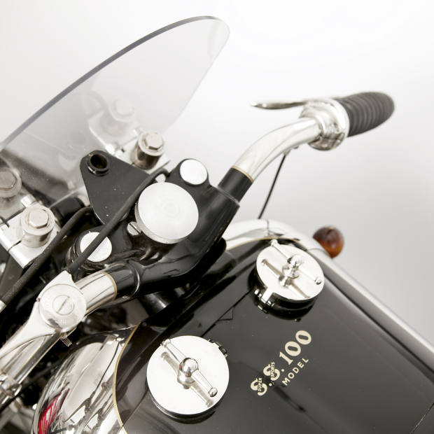 Twin fuel caps on the new Brough.