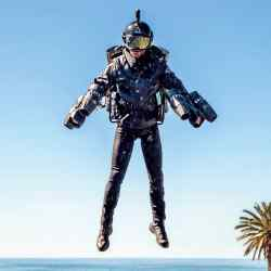 Gravity Industries' JetSuit, £340,000, has four arm-mounted engines and one on theflyer's back