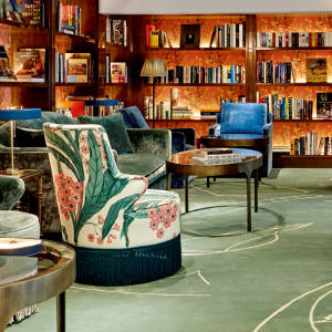 The Merchant House Manama in Bahrain has a well-stocked library for guests