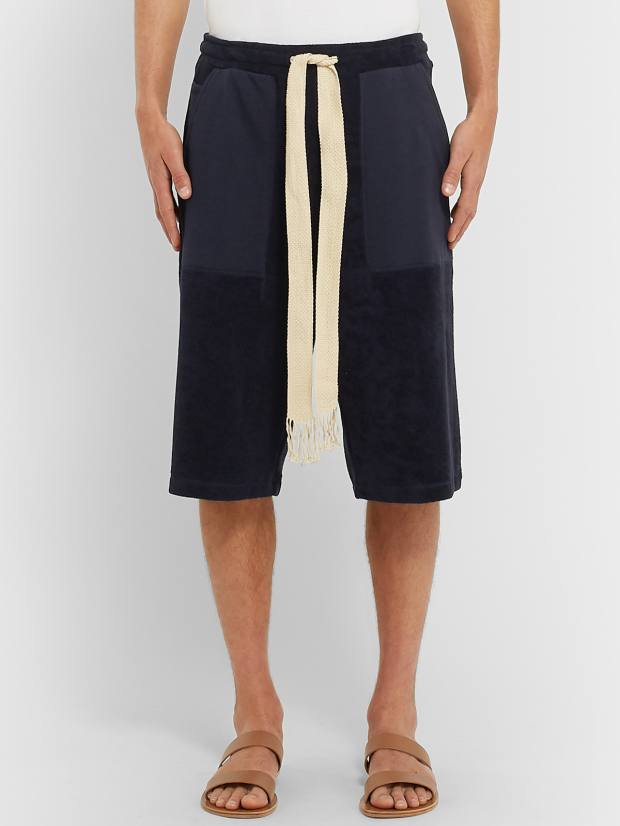 Loewe cotton-terry and jersey shorts, £375