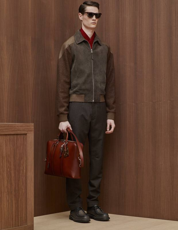 Louis Vuitton leather and wool Epi jacket, £2,825
