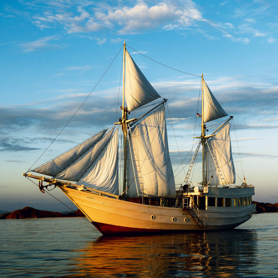 The Alexa sets sail for Komodo National Park in Indonesia