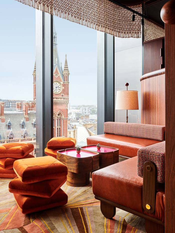 Decimo, on the 10th floor of The Standard, London offers scenic views of the city