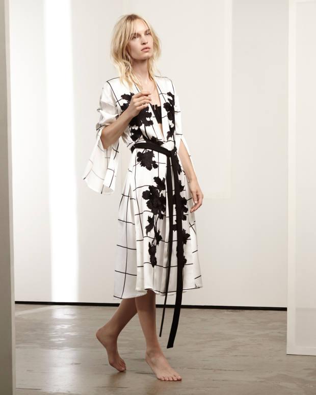 Aimée silk robe with appliqué embroidery, £1,700