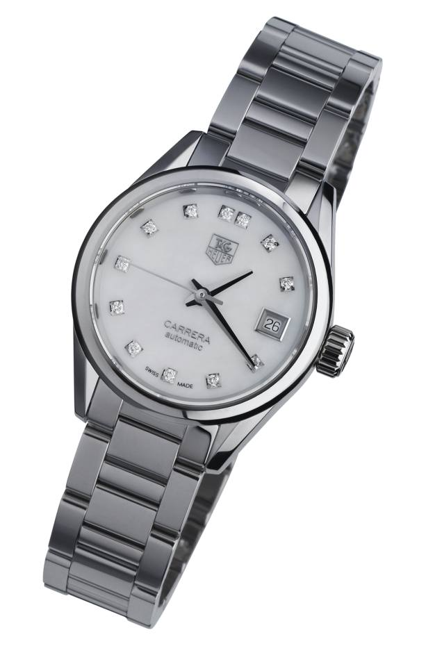 TAG Heuer Carrera Lady Calibre 9 watch in steel a57fc5001