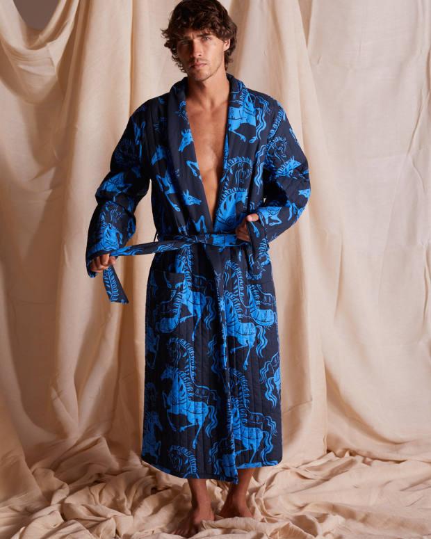 Desmond & Dempsey dressing gown, £310