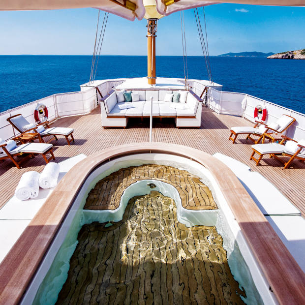 Edmiston's glamorous 1930s Haida 1929 is available to charter in the east Mediterranean