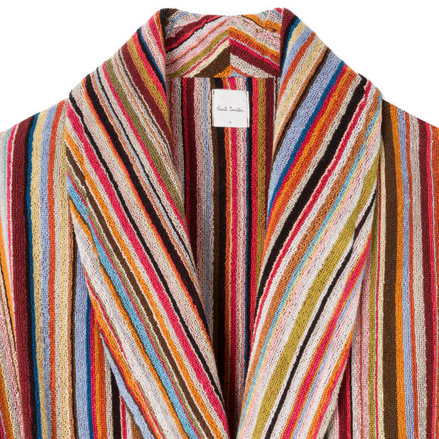 Paul Smith cotton towelling robe, £200, paulsmith.com
