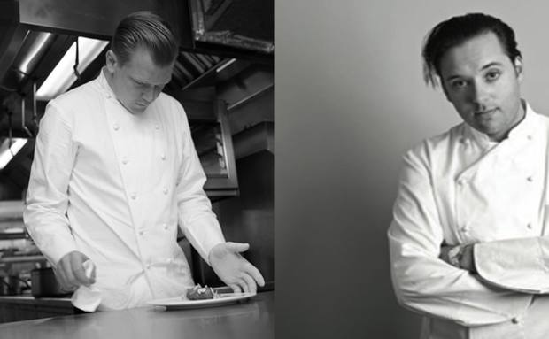Chefs Alex Dilling of The Greenhouse and Paul Liebrandt