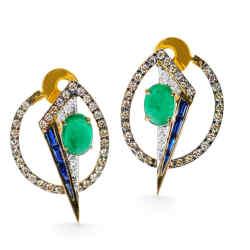 Geo-Art earrings by Kavant & Sharart, $5,900