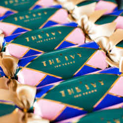 The Ivy's crackers reference the Covent Garden restaurant's famousstained-glass window, £50 for six