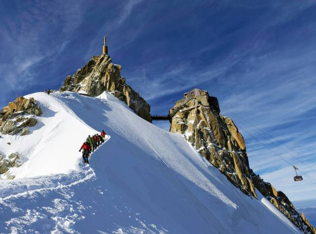 The Aiguille du Midi on Mont Blanc, Chamonix