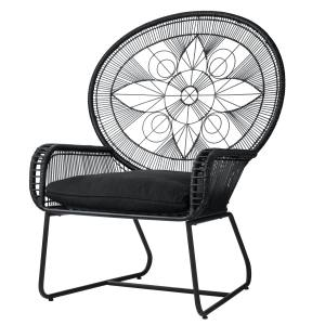Habitat Sura chair in rattan-wrapped steel with cotton cushion, £300
