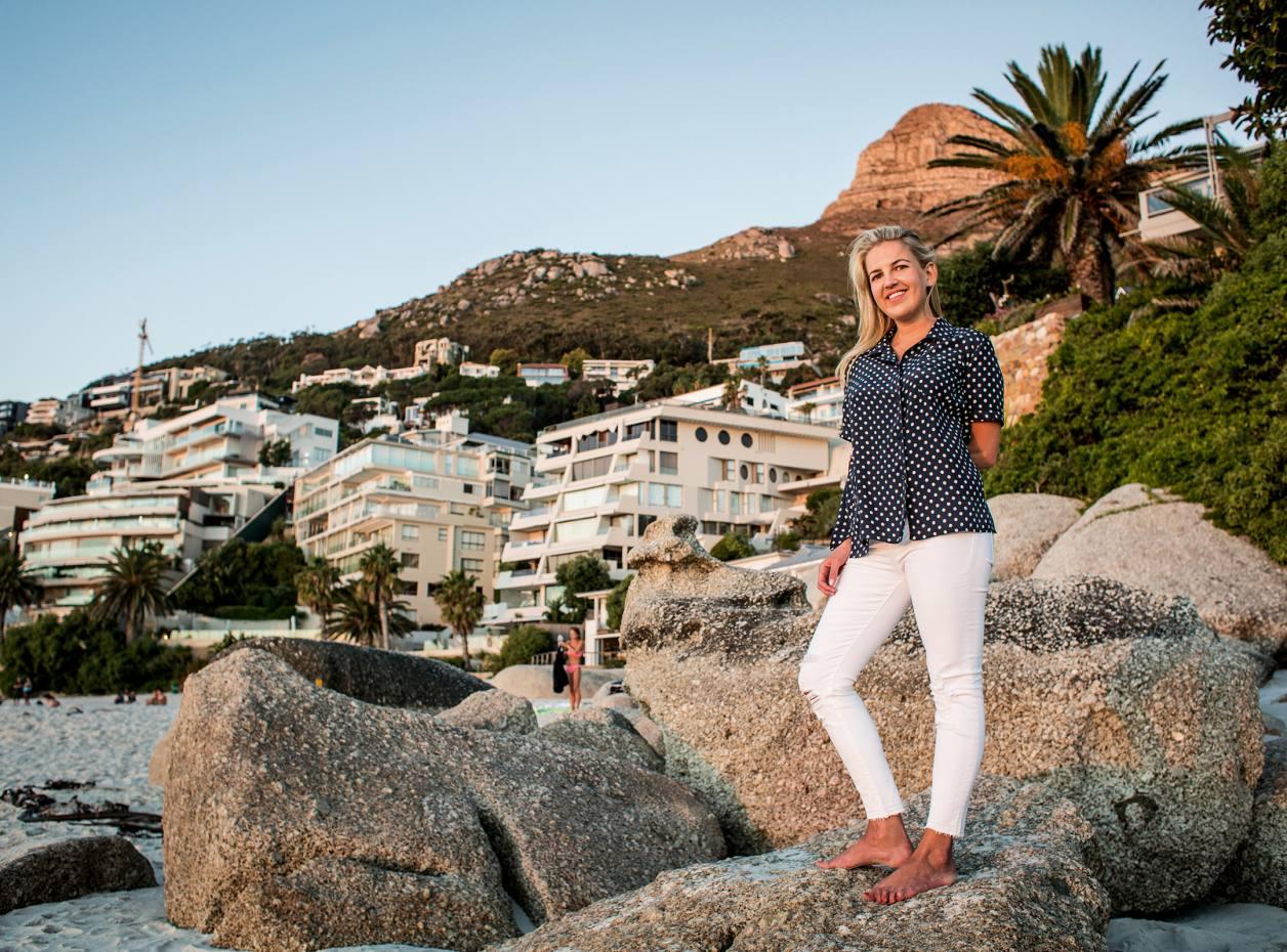 Hanneli Rupert on Clifton beach