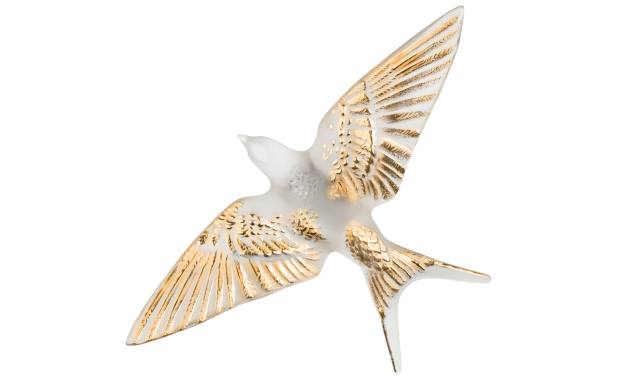 Fromental x Lalique crystal and gold Swallow wall sculptures, £590 each