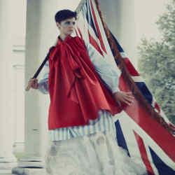 Valentino cotton dress, £2,300. Alexis Mabille cottonand lace shirt, £770. Giambattista Valli silk tulle dress, £6,900