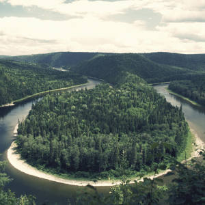 The Restigouche River, New Brunswick, Canada