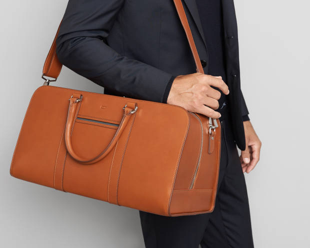 The Palissy leather weekend bag in cognac brown, £495