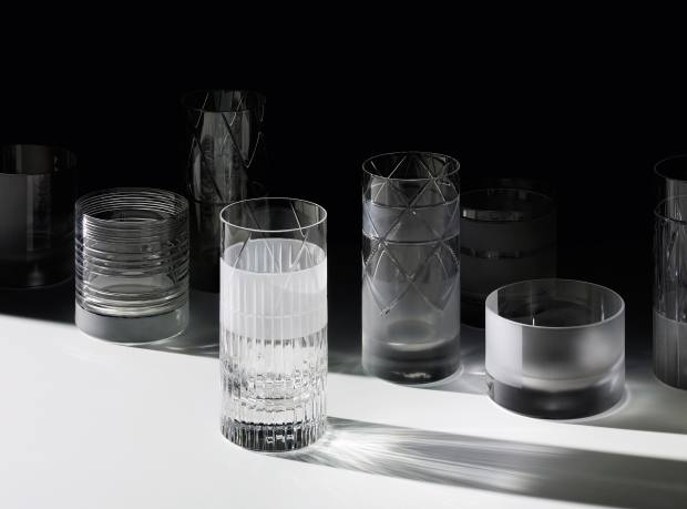 J Hill's Standard crystal Elements glasses by Scholten & Baijings, from €160