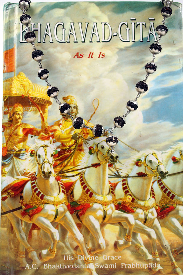 A copy the Bhagavad-Gita, which the author received at the start of her Great Game adventure