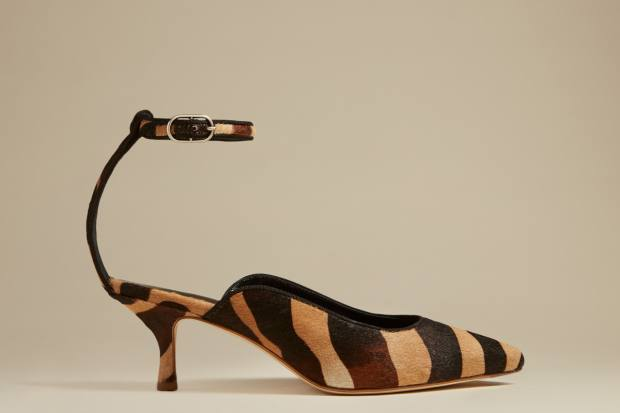 Zebra-print calf‑hair Sterling heels, £883