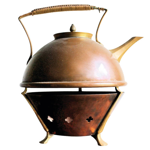 c1880 WAS Benson teapot with warmer, £2,015 from Connors Roth through 1stdibs
